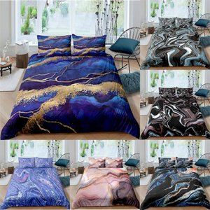 ZEIMON Marble Geometric 3D Bedding Set Modern Duvet Cover Bedding King Queen Sizes Bed Set Printed Home Textile Bed Linen
