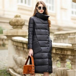 Duck Down Jacket Women Winter Outerwear Coats Female Long Casual Light ultra thin Warm Down puffer jacket Parka branded 201102