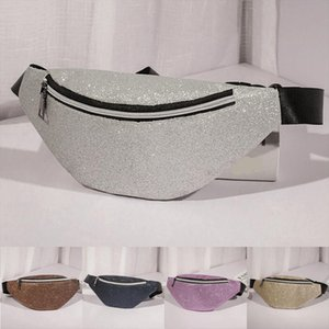 New Women Reversible Mermaid Sequin Shinny Fashion Design Waist Fanny Pack Belt Bum Bag Pouch Hip Purse Stylish Cool Waist Bags