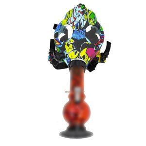 Silicone Bong Multicolor Mask Bong con rubinetto di fumo acrilico per tubo di fumo di fumo tubo fumo accessori di vetro Bong per al dettaglio all'ingrosso