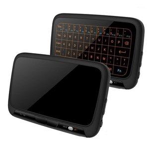 2.4 GHz H18 + arkadan aydınlatmalı mini kablosuz klavye, tam SN hiçbir alfabe fare touchpad combo, PC için şarj edilebilir uzaktan kumanda, Andro1
