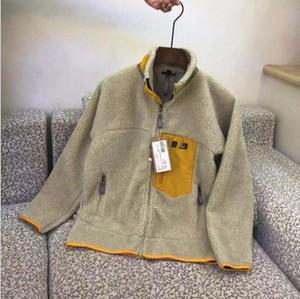 Патагония толстые теплые классические ретро-х осень зимние пары моделей овечника кашемировый флис для мужчин женская одежда зеленый, хаки, черные xs / 2xl,