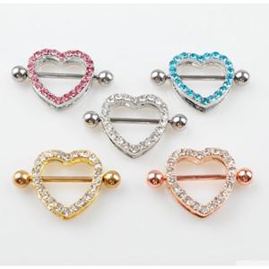 D0985 (5 colori) Bella pietra stile stile capezzolo anello piercing gioielli 20 pezzi rosa colore pietra goccia piercing gioielli gioielli spedizione 7RTTK