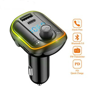 Bluetooth Car Kit Handsfree Wireless FM Transmitter AUX Audio Stereo Car MP3 Player with PD18W Quick USB Charger