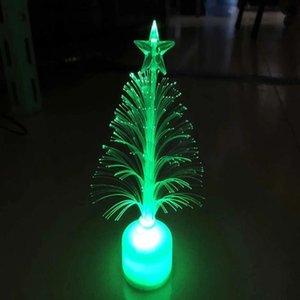 Venda quente colorido Led Fiber Optic Iluminação Interior Nightlight Decoração Lâmpada Luz Mini Christmas Tree Jk0215a