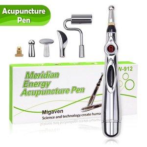 Eletrônica caneta massagem Acupuntura Pen curar Meridian Energia alívio da dor do laser massageador Electro Estimulador Massageador