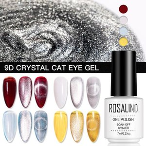 ROSALIND 9D Crystal Cat Eye Gel With Magnetic Stick Gel Nail Polish All For Manicure Semi Permanent Soak Off 7ML Lacquer