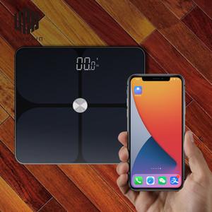 Guangzhou Juropin intelligente corpo Bluetooth Fat scala 2020 Household bagno personale peso di grasso corporeo BMI Scala, 396lbs