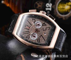 2020 인기 패션 레저 남자 FM 시계 고품질 가죽 5 핀 쿼츠 다기능 시계