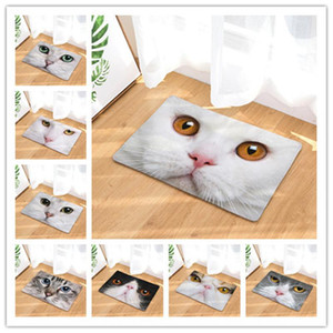 Rubylove adorável gatos face sala de estar tapete cadeira yoga esteira impresso sofá piso tapetes tapetes tapetes tapetes tapete para casa
