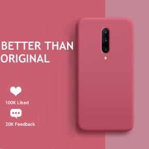 5T 6T Original Liquid Silicone Soft TPU Phone Cover For One plus 5 6 7 8 Pro Oneplus 7T Case Coque