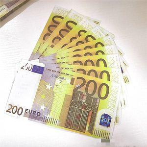 EUROS PROP MONEY 200 EUR Fake Валюта Факультет Faux Cooket Copy Bank Notes Paper Money 100 шт. / Пакет
