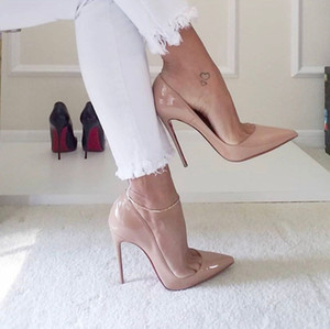Hot Sale-Sexy Women's Shoes High Heels Slinky Wedding Party Red Soles Shoes
