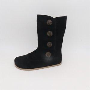 Tipsietoes Top Marca Barefoot Genuine LeatherToddler Girl Zapatos para niños para la moda Invierno Zigzig Sole Boots 201020