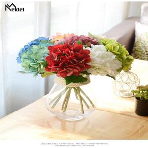 Big Artificial Flowers Hydrangea Branch Silk Flowers Fake Hydrangea Wedding Home Table Party Vases Spring Decor Imitation Flore