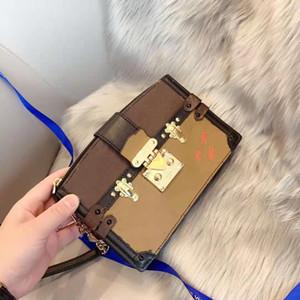 A nova cor velha de flor de 2021 combinando caixa macia oblíqua ku chain saco mostra a bolsa de couro genuíno feminina pacote de alta qualidade pacote
