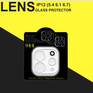 Templado lente de cristal protector para el iPhone 12 Mini Pro Max iphone 11 XR XS MAX Teléfono de la cámara de la película protectora de cristal con la caja al por menor