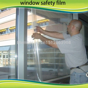 4 Mil Security Window Clear Film 60 X 33 Feet Roll , Home , Office RmGA#