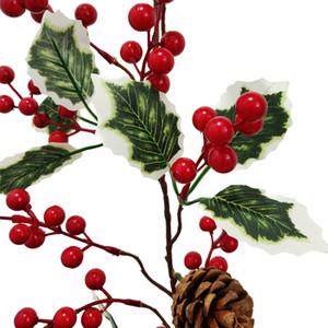 Weihnachten Akazien Bohnen Rattan Rot Akazien Bohnen Grüne Blatt Künstliche Pflanzen Reben Home Künstliche Pflanzen Reben Weihnachten Decoratio DHB1510