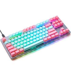 taihao pbt tiro duplo keycaps para DIY Gaming mecânico teclado backlit tampas de perfil OEM luz através de miami ciano magenta lj200922