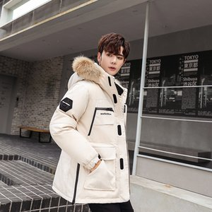 Brand Men's Jacket Hooded Thick Winter Coat Men Clothes 2019 Korean Warm Duck Down Jackets Fashion Outwear Hiver Nf