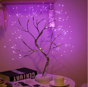 36 108 Led Usb Battery Power Touch Switch Tree Light Night Fairy Light Table Lamp For Home Bedroom Wedding Party Christmas Decor sqcNRr