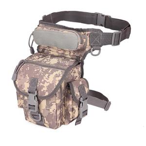 Men's Camouflage Drop Leg Bag Panel Utility Waist Belt Pouch Pack