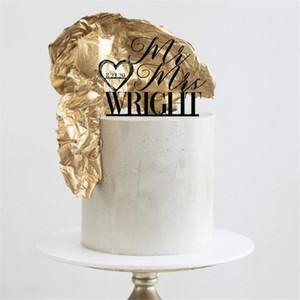 Sr Sra encargo del pastel de bodas, personalizado Apellido de la torta, personalizado Corazón Con Fecha Topper