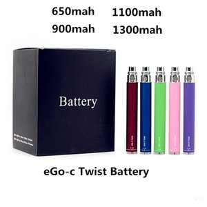 Factory Professional 510 thread battery electronic cigarette ego-t twist 3.3-4.8V Variable Voltage 650 900 1100 1300mA ego battery