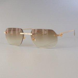 Sol Güneş Gözlüğü Tasarımcı Shades Temizle Trendy Festivali Kadınlar Rave Gafas Rastgele Parlak Carter Vintage Retro Favam