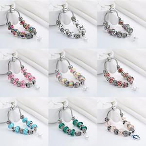 Cxwind Fashion Dog Footprint Flower Murano Glass&Crystal European Charm Beads Fits diy Style Heart Charms Bracelets for women