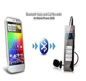 Wireless Bluetooth Teléfono Móvil Call Grabador de voz Dispositivo de grabación de sonido de audio activado digital Dictáfono con micrófono