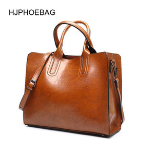 HJPHOEBAG leather luxury handbags women bags Lady Large Tote Female Pu Shoulder Bag messenger bolsa feminina YC001 Q1107