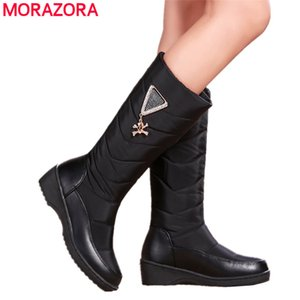 Plus size 35-44 black red snow boots women skull mid heels platform boots plush warm winter boots female shoes footwear210