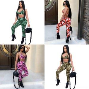 M7bcand América Casual Jumpsuit das Mulheres Moda Dois Pie P Women's Outono e Sexy New Black Moda Prints Tracksuit Twoset