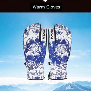 high-quality Winter Warm Comfortable Women's Snowboard Gloves Ski Gloves Windproof Waterproof Thermal Fleece Snow