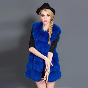 Women's Faux Fur Vest Winter Thick Warm Fur Coat Outerwear Women Artificial Rose Vest Jacket Overcoat Long Parka PC043