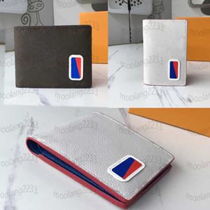 2020 Nuovi uomini Portafoglio Designers Porta carte di alta qualità Bianco e Brown Short Portafogli Moda Donna Porta carte di credito con scatola