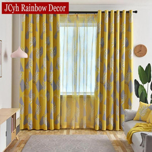 Ins Printed Leaves Curtains for Living Room Modern Bedroom Window Treatments Curtains Drapes Plant Tend Blind Cortinas1