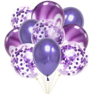 10pcs 12inch Latex Air Balloons Happy Birthday Party Decoration Wedding Helium Ballon Valentine's Day Baby Boy Girl Kids Rose wmtwBa