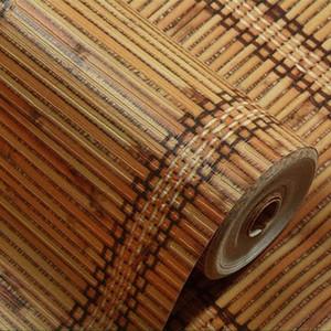 Papel de parede Atacado imitação 3D Textured bambu Wallpaper impermeável espessamento PVC em relevo Para Quarto fundo Sala Wallp IzPW #