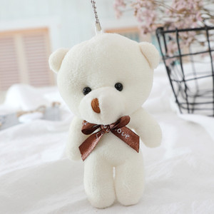 10PC Mini Plush Doll Bear Toys Conjoined Pendant PP Cotton Soft Stuffed Naked Bears Toy Bouquet Doll Holiday Gift Bag Hanging