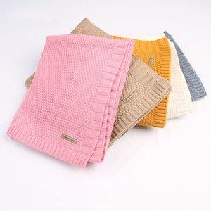 Baby Blanket Knitted Newborn Blankets Super Soft Stroller Wrap Infant Swaddle Kids Inbakeren Stuff For Monthly Toddler Bedding 201022