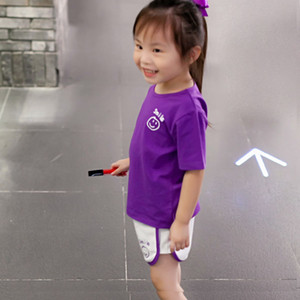 Girls' sports and leisure football shirt shorts suit