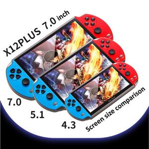 Jeux vidéo Console Player X12 Plus Portable Portable Console de jeu PSP rétro double rocker joystick 7 pouces écran vs x19 x7 plus