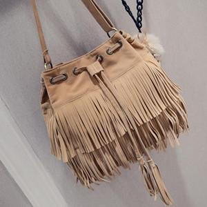 1Pc Retro Faux Suede Fringe Messenger Bags For Women 2020 Tote Hand bags Tassel Shoulder Handbags Crossbody Bag bolsa feminina