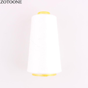 Sewing Notions & Tools ZOTOONE 3000Y 40S 2 Spool White Polyester Threads For Leather DIY Machine Yarn Apparel Accessory D1