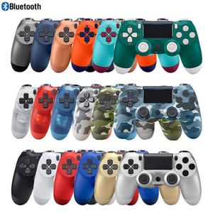 P4 Kablosuz Bluetooth Joystick PS 4 konsol Kontrolörler Gamepad için DualShock 4 Kablolu PC Titreşim oyun Kontrolörler aksesuarları oyun
