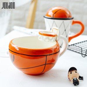 Joudoo creativo cerámico agua taza de agua café retro flor soltero taza café leche negocio regalo de regalo regalo de boda LJ200821