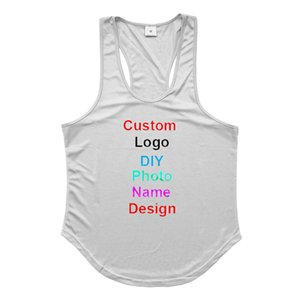 DIY Logo Your Photo OWN Design Customized Mens Mesh Fitness Clothing Gym Stringer Tank Top Men Bodybuilding Vest Workout Shirt